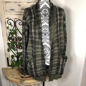 Buckle gilded intent mohair blend plaid cardigan